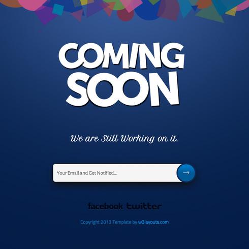 Coming Soon - Under Construction Responsive Website Template