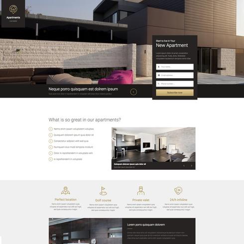 Real Estate Landing Page Free Responsive Website Template - property management websites templates