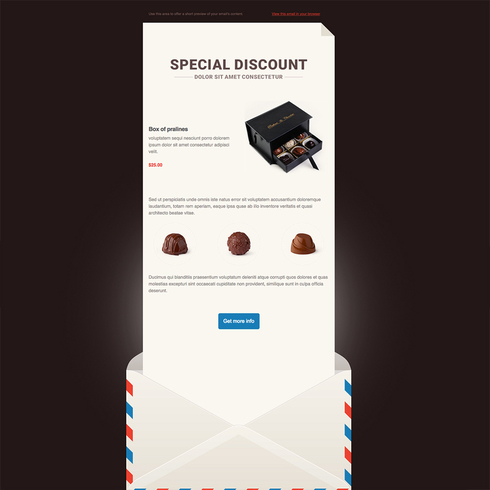 Smooth Chocolate Free Responsive Email Newsletter Template - free responsive email template