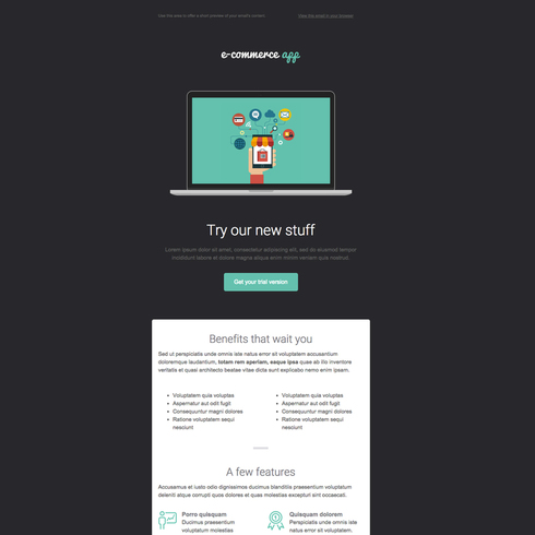 Flat Ecommerce Free Responsive Email Newsletter Template