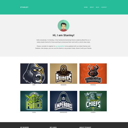 Stanley Freelancer Free Responsive Bootstrap Website Template