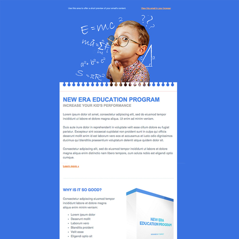Education Free Responsive Email Newsletter Template - free responsive email template