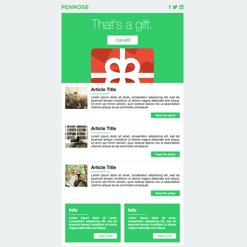 Penrose Free Responsive Email Template