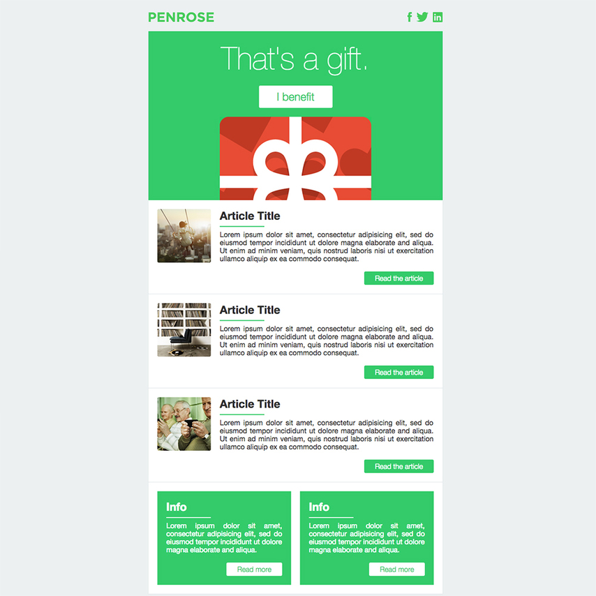 Penrose Free Responsive Email Template - free responsive email template