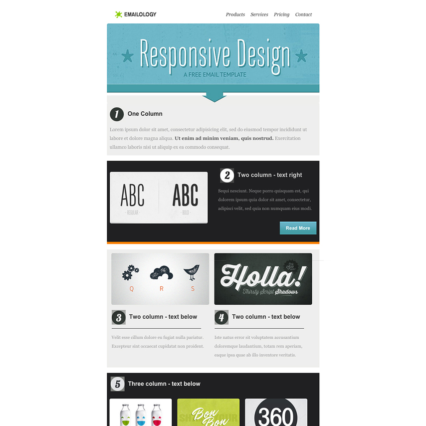 Emailology Free Responsive Email Template - free responsive email template