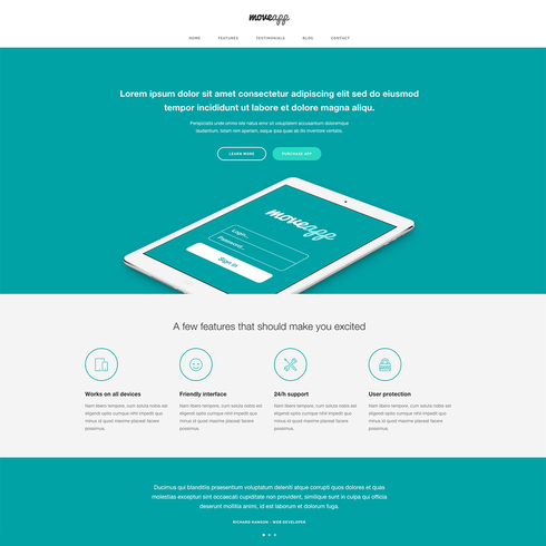 Free Responsive App Website Template - Free App Template