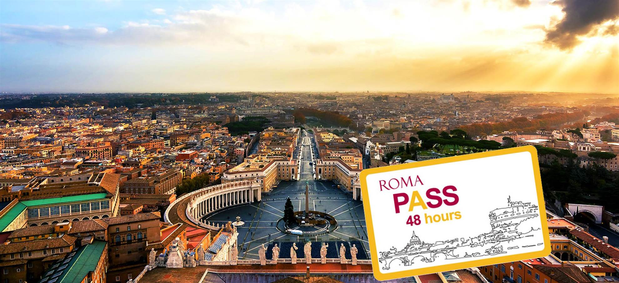 Billet Vatican Coupe File Roma Pass 48h