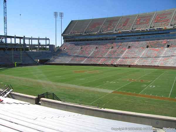 Frank Howard Field at Clemson Memorial Stadium Seat Views - Section