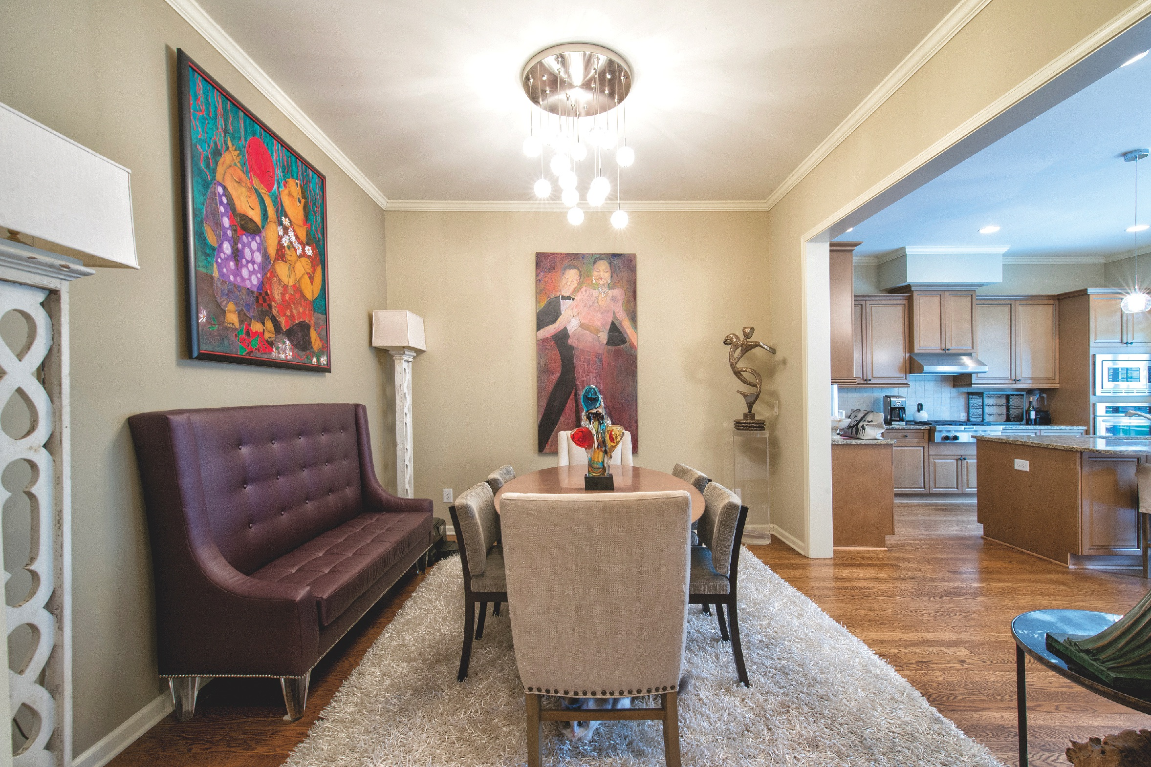 Petite Banquette Design Chai Style Homes Colorful Cubist Is Self Taught Atlanta Jewish