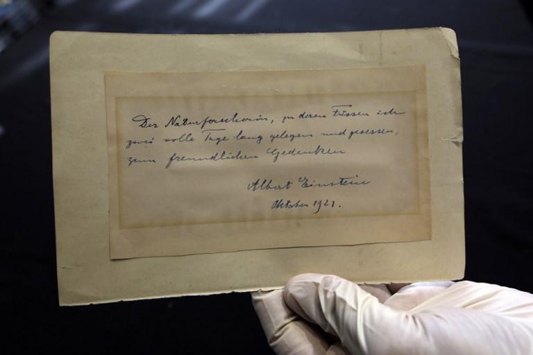 Handwritten Einstein love letter up for auction in Jerusalem The
