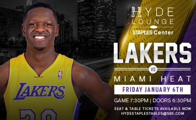 Lakers Vs Miami Heat Tickets At Hyde Staples In Los Angeles By Hyde Lounge At Staples Center Tixr