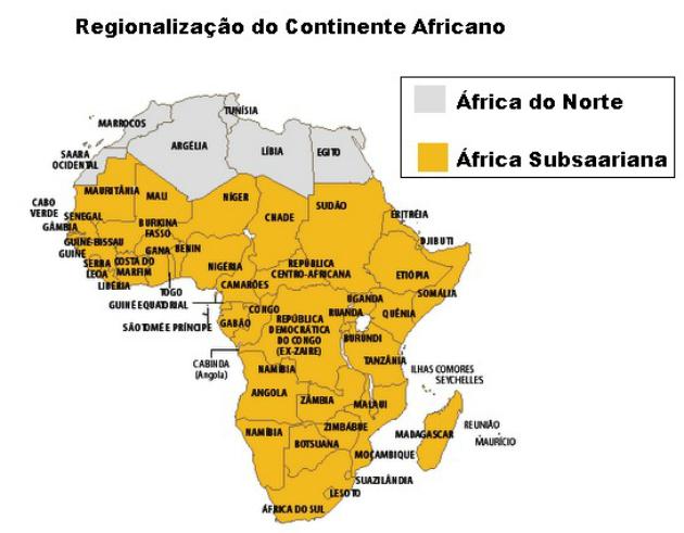 África Subsaariana países, mapa e problemas - Toda Matéria