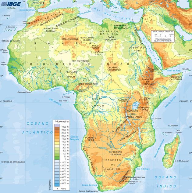 África aspectos gerais do continente africano - Toda Matéria