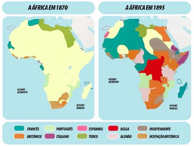 Partilha da África divisão do continente africano - Toda Matéria