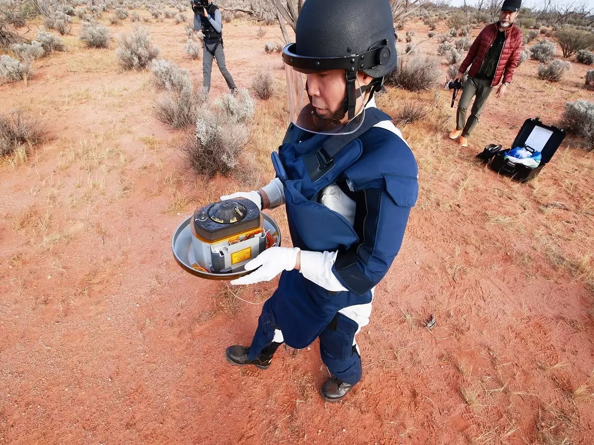 Japan S Capsule With Asteroid Samples Retrieved In Australia Times Of India