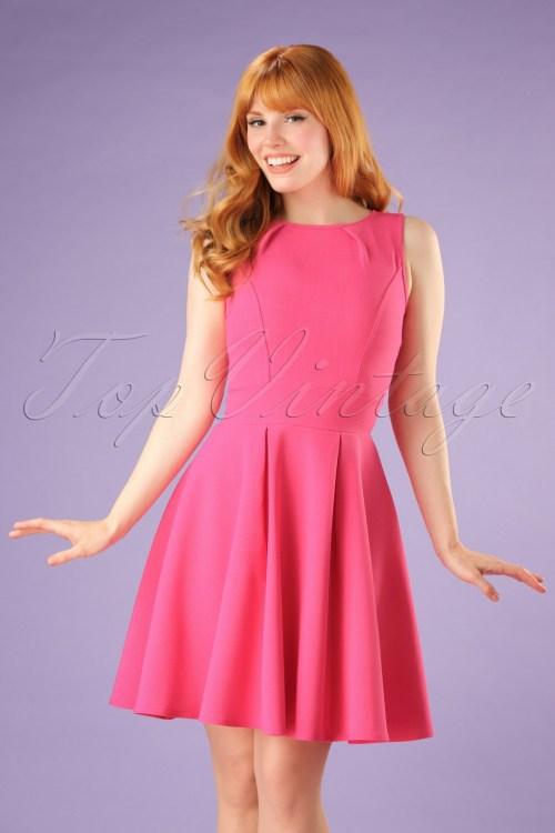 Dainty 113221 Vintage Super Crepe Hot Pink Dress 102 22 20989 05w Full Hot Pink Dress Wedding Hot Pink Dress Long