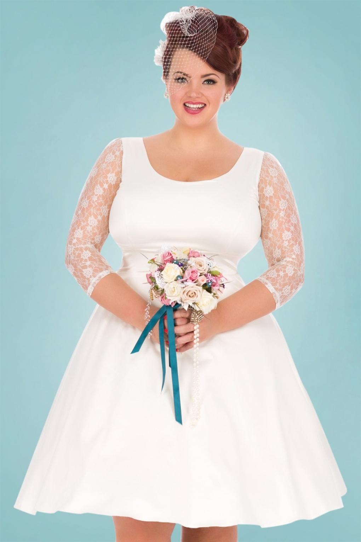 s style wedding dresses 50s style wedding dresses s Style Wedding Dresses 50s Phoebe Satin Wedding Dress in Ivory 69 AT vintagedancer