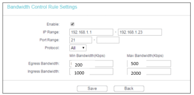 How to configure Bandwidth Control of TL-MR6400 in Standard Wireless Router Mode (new logo ...