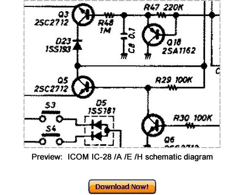 icom ic 28h schematic diagram