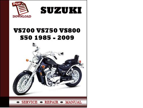 suzuki vs700 vs800 pdf service repair workshop manual 1985