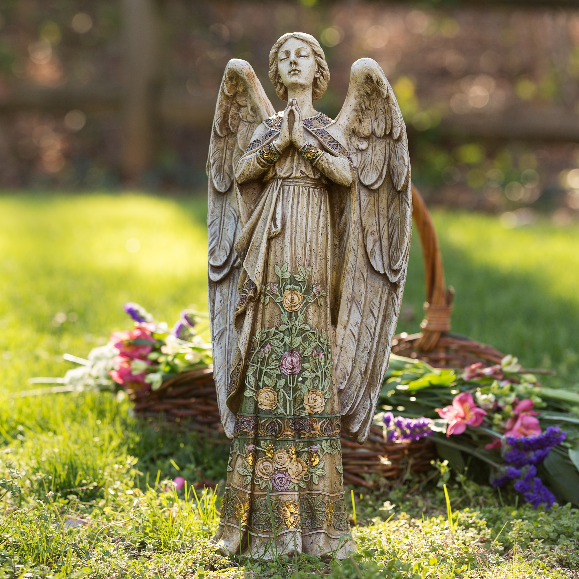 Garden Angel Memorial Angel Garden Figure Garden Inspiration