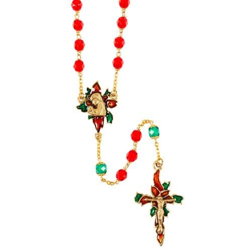 Christmas Poinsettia Rosary The Catholic Company