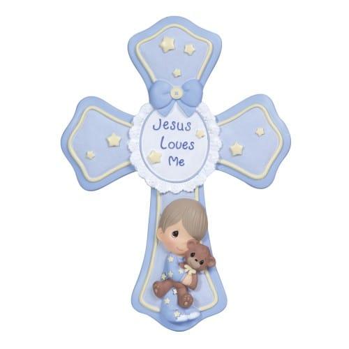 Wallpaper Ideas For Baby Girl Nursery Precious Moments Blue Jesus Loves Me Cross The Catholic