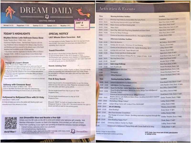 Our Experience on Genting Dream Cruise Singapore