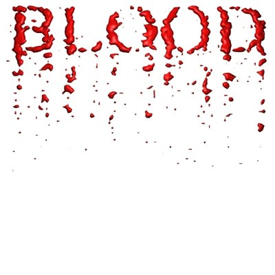 blood title animation 3d model - animation title