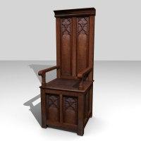 medieval throne 3d blend
