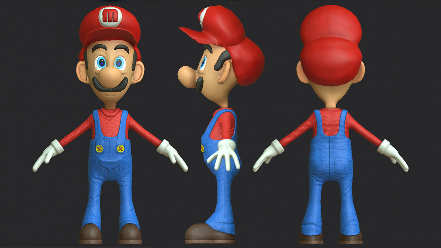 3d Models For Animation Super Mario