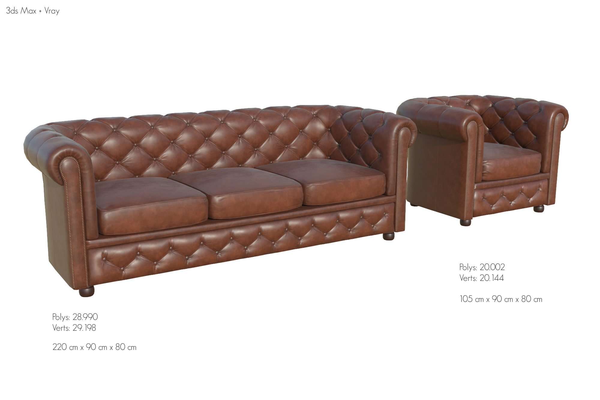 Chesterfield Sofa Texture Chesterfield Sofa Ar Armchair 3d Turbosquid 1183157