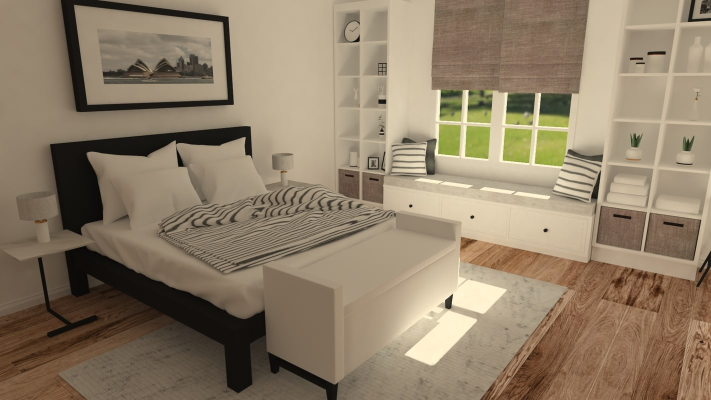 Scandinavian Furniture Bed Scandinavian Bedroom Scene