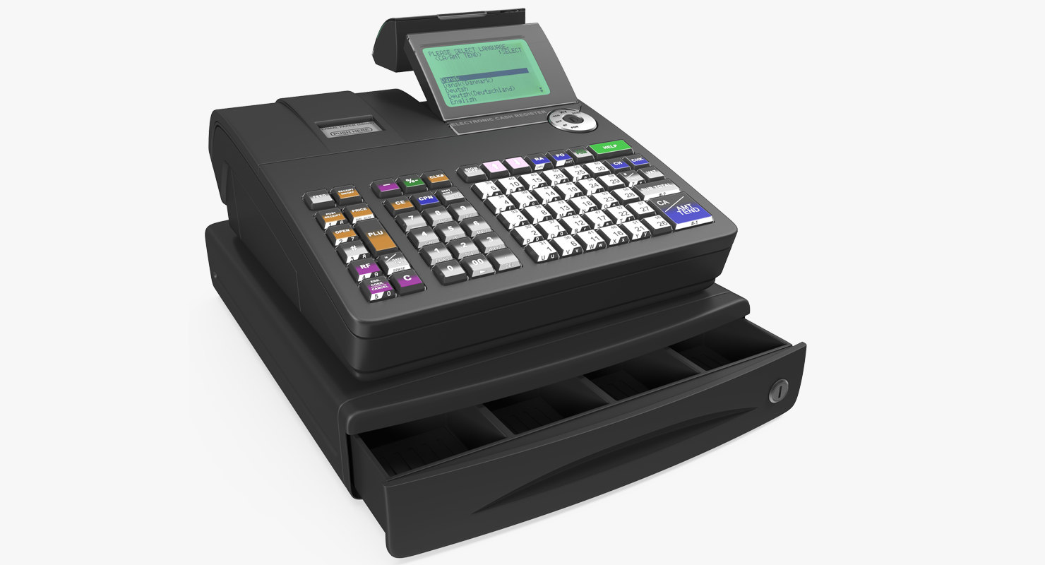 Buy Cash Register Electronic Cash Register Generic 3d Model Turbosquid 1209520