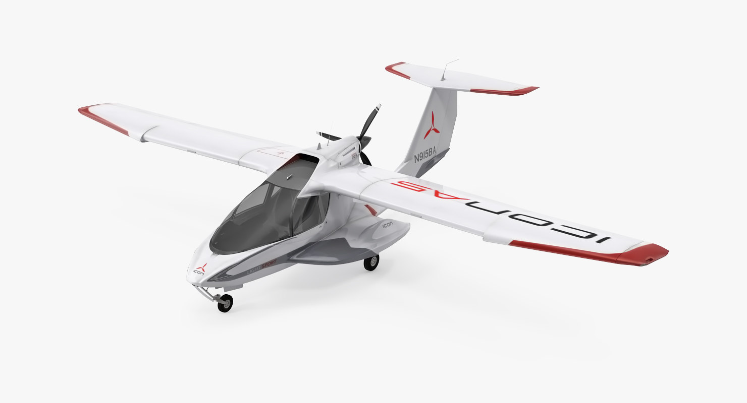 Light Sport Aircraft Amphibious Light Sport Aircraft 3d Model Turbosquid 1225550