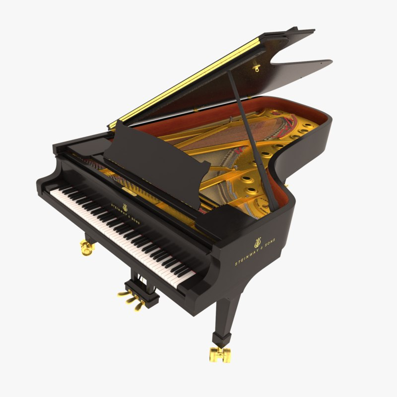 Steinway sons concert grand piano 3D - TurboSquid 1226858
