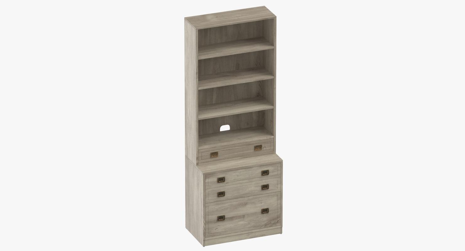 Traditional Bookcase 3d Model Turbosquid 1251480