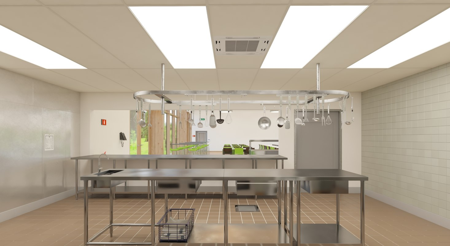 Commercial Kitchen 3d Design Kitchen 3d Turbosquid 1269401