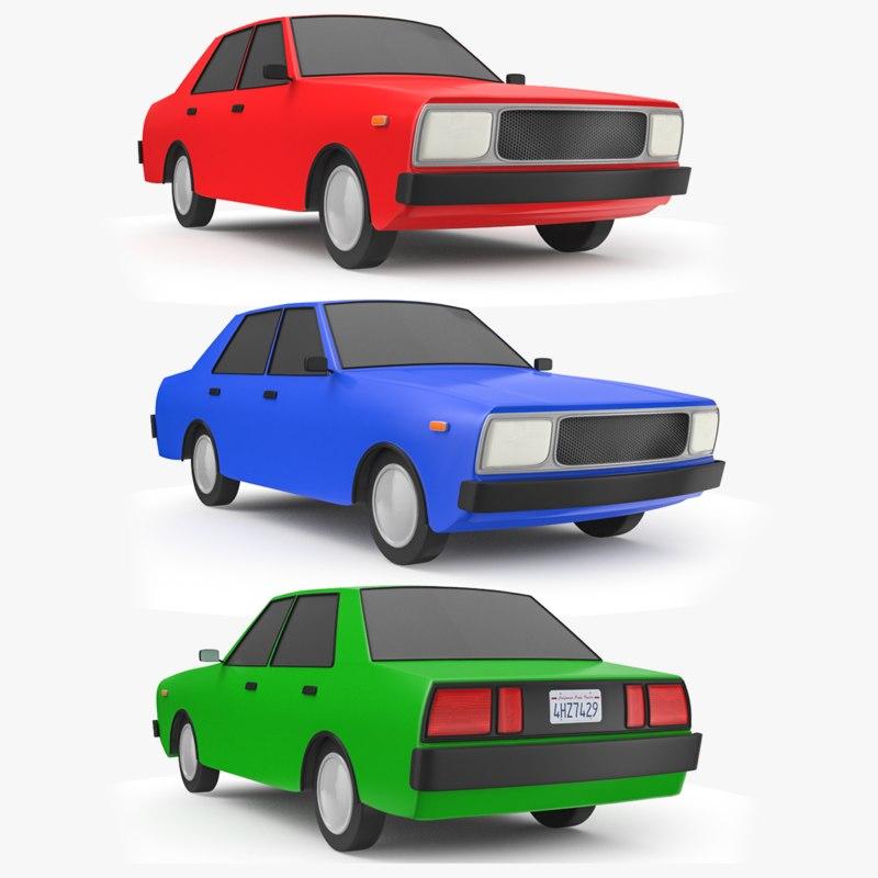 3D cartoon car 2 model - TurboSquid 1291922