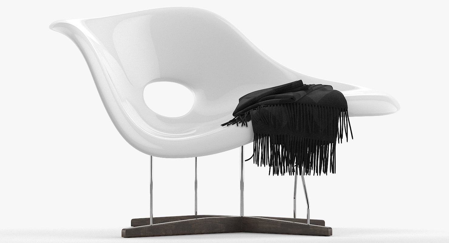La Chaise Lounge Chair 3d Vitra La Chaise Model Turbosquid 1295115