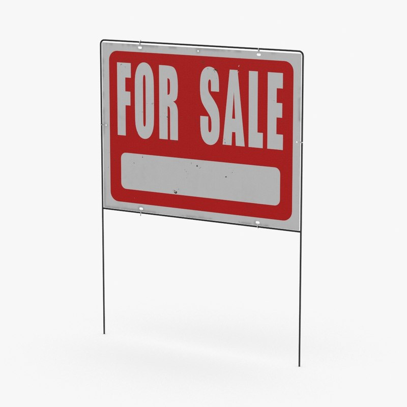 Home-for-sale-sign-02---without-sold-sticker 3D - TurboSquid 1312485