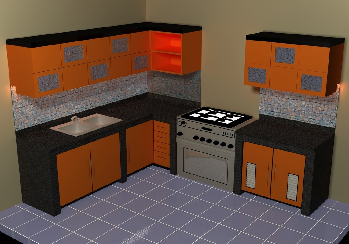 Small Kitchen Models Small Kitchen Set 3d Model