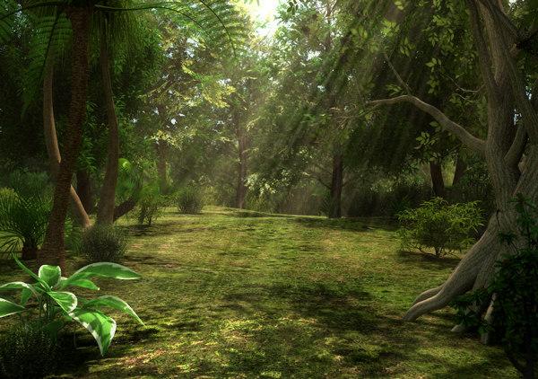 Fantasy Forest 3d Live Wallpaper Jungle Scene 3d Model