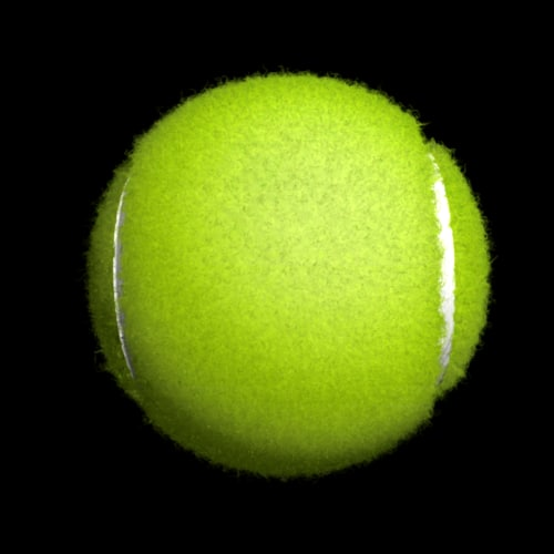 fuzz tennis ball realistic 3d model - why is there fuzz on a tennis ball