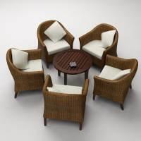 3ds coffee shop sofa chair