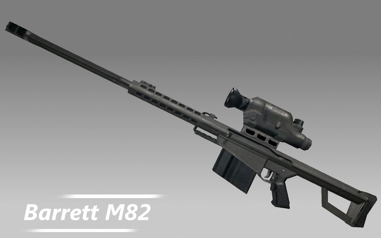 Smart Car Wallpaper Barrett M82 Rifle Gun 3d Model