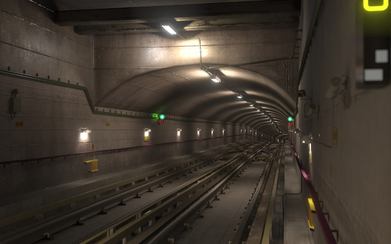 Engine Live 3d Wallpaper 3dsmax Underground Tunnel