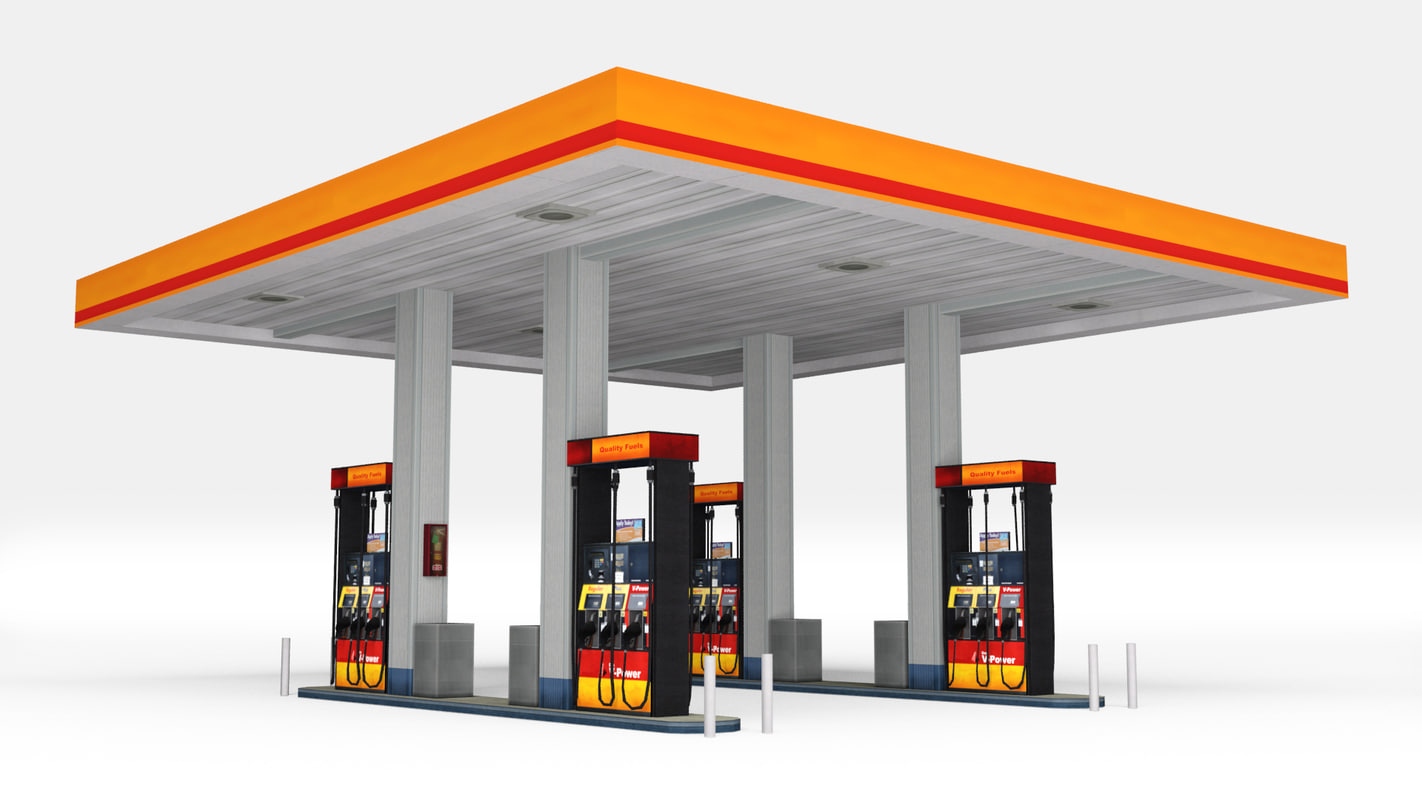 Gasoline Stations Gas Station 3d Model