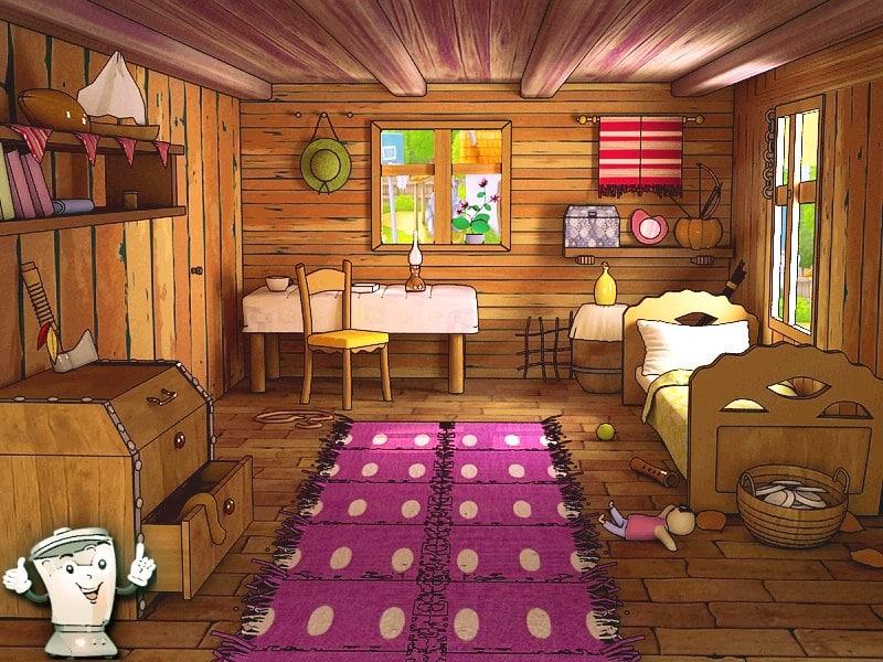 My Log Home 3d Live Wallpaper Toon Room Cartoon Max