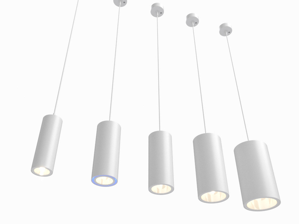 Luminaire Lighting Erco Cylinder Luminaires Lighting 3d Model